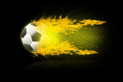Football soccer balls. Stock Photos