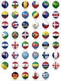 Football soccer balls with national flag textures Royalty Free Stock Photo