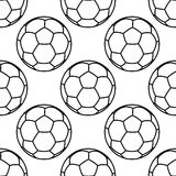 Football or soccer balls outlines seamless pattern Royalty Free Stock Photos