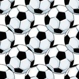 Football or soccer balls seamless pattern Stock Photo