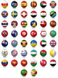 Football Soccer Balls With National Flag Textures Royalty Free Stock Images