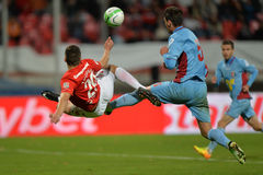 Football/soccer bicycle kick Royalty Free Stock Photography