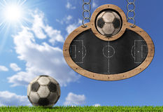 Football Soccer - Blackboard with Chain Stock Photography
