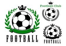 Football or soccer club badges design Royalty Free Stock Photography