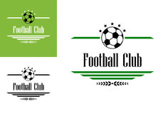 Football or soccer club symbol Royalty Free Stock Image