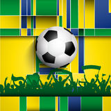 Football / soccer crowd background Stock Images