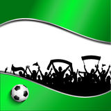 Football or soccer crowd background Stock Photos