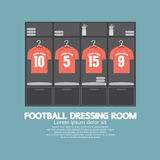 Football Or Soccer Dressing Room. Vector Illustration vector illustration