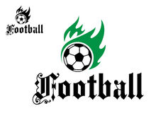 Football or soccer emblem Stock Photos