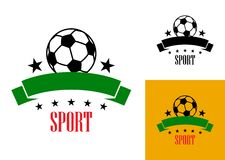 Football or soccer emblem Royalty Free Stock Photography