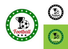 Football or soccer emblem Royalty Free Stock Images
