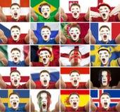 Football, soccer fan Royalty Free Stock Image