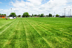 Football or soccer field Royalty Free Stock Photo