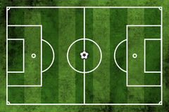 Football or soccer field with ball Royalty Free Stock Image
