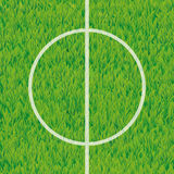 Football soccer field center and ball top view background vector illustration
