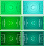 Football - Soccer field, Circular grass texture Royalty Free Stock Photos