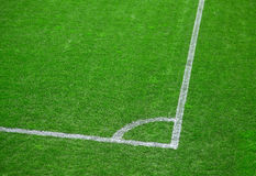Football (soccer) field corner Stock Photography