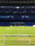Football soccer field, with gate Stock Image