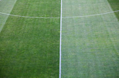 Football soccer field grass Royalty Free Stock Image
