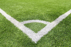 Football and soccer field grass stadium Royalty Free Stock Photo