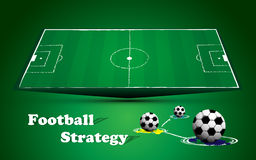 Football soccer field match strategy background Stock Photography