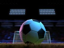 Football - soccer field - 11 meter. Football field - 11 meter - 3D Royalty Free Stock Images