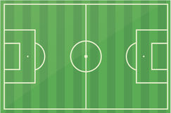 Football Soccer Field Pitch Vector Royalty Free Stock Image