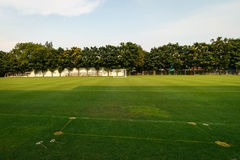 Football or Soccer field in the school Royalty Free Stock Images