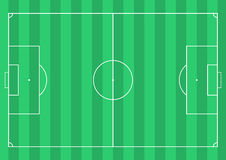Football soccer field Stock Images