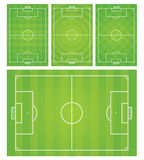 Football/Soccer field vector illustration. Isolated objects Royalty Free Stock Photography