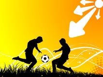 Football/soccer fight Stock Images