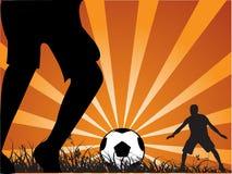 Football/soccer fight Stock Photos