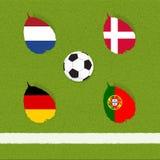 Football soccer of flag Stock Photography