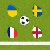 Football soccer of flag Stock Photo