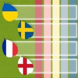 Football soccer of flag Stock Photos