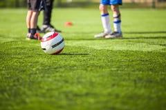 Football soccer futsal training for children Stock Photography