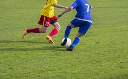 Football Soccer game Duel Royalty Free Stock Photo