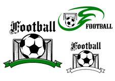 Football and soccer game symbols Royalty Free Stock Image
