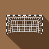 Football or soccer gate icon, flat style Stock Images