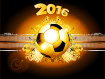 Football soccer glowing background 2016 Royalty Free Stock Photo