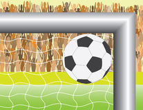 Football (soccer) goal Royalty Free Stock Photo