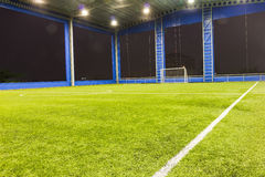 Football (soccer) goal and field Stock Images