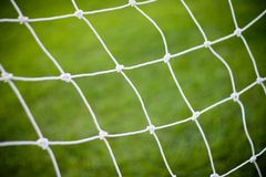 Football soccer goal net Royalty Free Stock Photo
