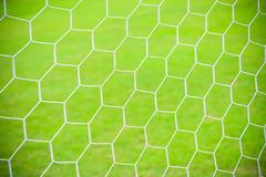 Football soccer goal net Stock Photo