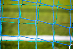 Football soccer goal. Net on grass background Royalty Free Stock Photos