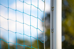 Football soccer goal net. On summer background Royalty Free Stock Photo