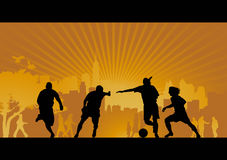 Football, soccer, goal, vector background Royalty Free Stock Photography