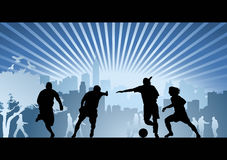 Football, soccer, goal, vector background Stock Photos