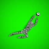 Football soccer goalkeeper silhouette Stock Image