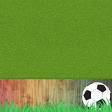Football soccer on grass Royalty Free Stock Photography